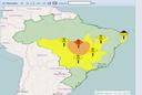 Alerta de baixa umidade sobe para laranja no Tocantins.