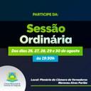 A Câmara Municipal de Formoso do Araguaia é casa de todos. Por isso, convidamos todos os cidadãos para acompanhar as próximas sessões ordinárias. 👨🏻💼🧩
