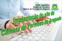 Implantação do site da Câmara Municipal de Formoso do Araguaia/TO.
